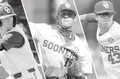 Three Sooners Selected on Second Day of MLB Draft