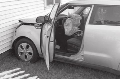Underage Driver Loses Control of Vehicle, Strikes House