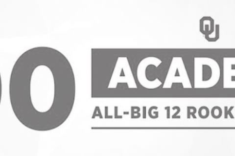100 Sooners on Academic All Big 12 Rookie Team