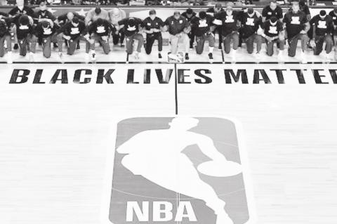 NBA Makes a Stand by Kneeling During Anthem