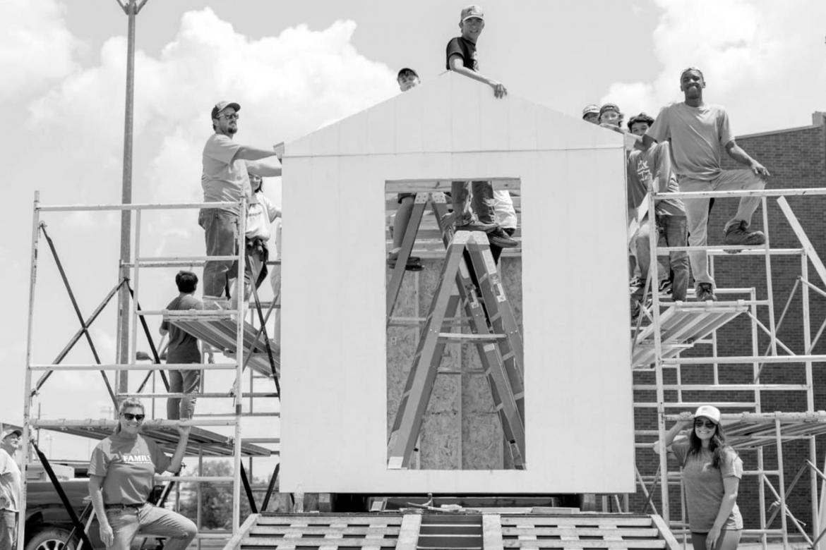 Students Build Tiny House For Person in Need