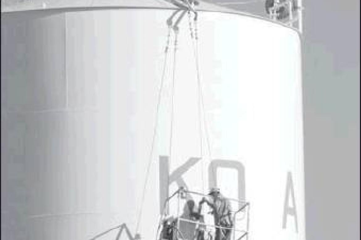 New Upgrades are Underway on Konawa Water Tower